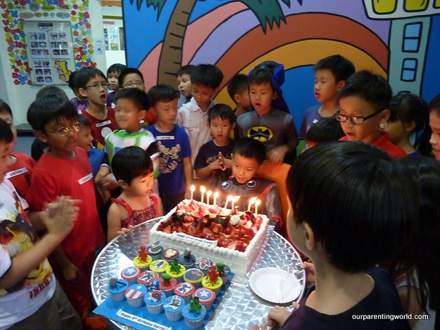 Gor Gor And His Friends Gather Around To Sing Happy Birthday Song To Darryl Who Is Dressed As The Super Hero Thor
