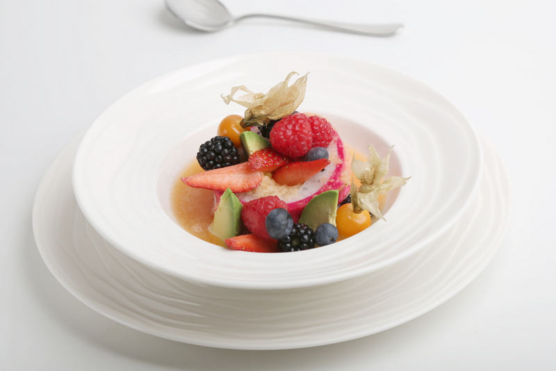 5. Chilled Melon Soup with Avocado and Assorted Berries