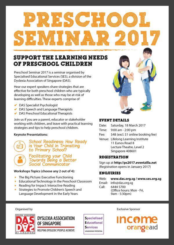 Singapore Preschool Seminar 2017