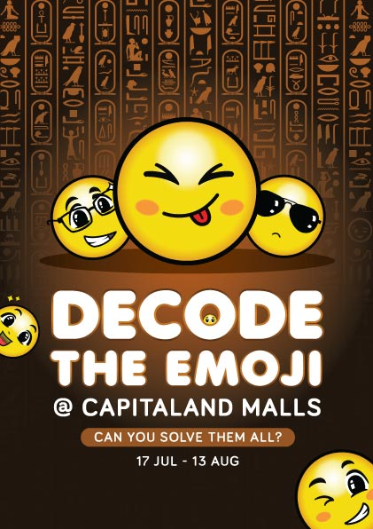 Decode the Emoji Campaign by CapitaLand Malls