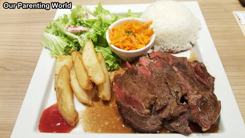 Hoshino Coffee Angus Beef Steak Plate