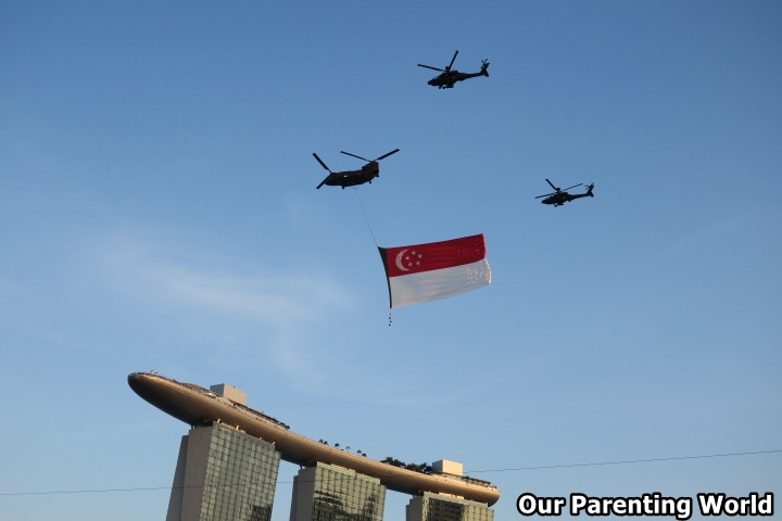 National Day Parade 2017 State Flag Flypast