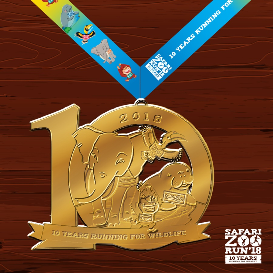 Safari Zoo Run 2018 Finishers Medal