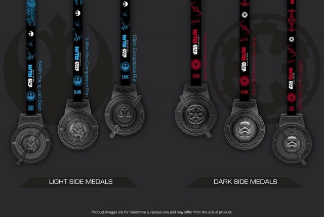 Star Wars Run Medals