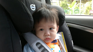 Di Di and his new car seat, Our Parenting World