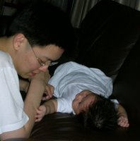 Play time with my Uncle Raymond, Our Parenting World